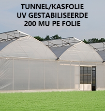 Tunnelfolie 50 x 10.0 mtr breed 200 mµ