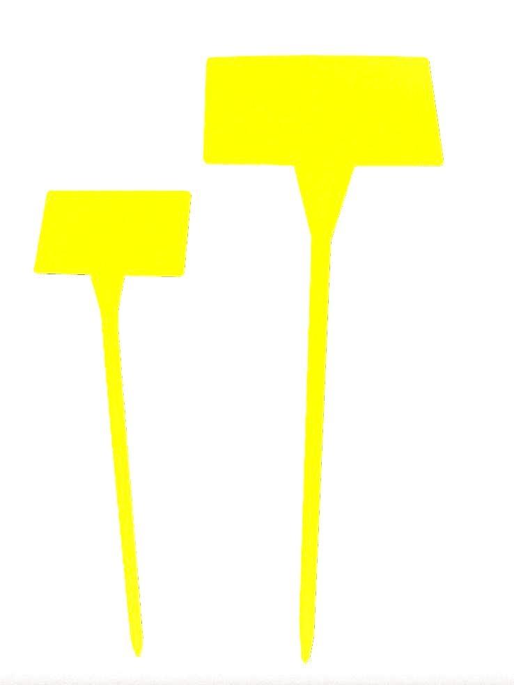 Etiket plaat S ivoor 45 cm (zak= 50)