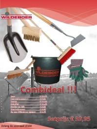 Tuingereedschapset Combideal