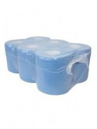 Handdoekpapier Euro Midi 1-lgs blauw 20cm 300 mt/rl(P54012