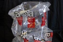 Zakken asbest 80 x 120