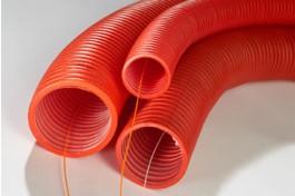 Kabelbeschermingsbuis Ø 75 mm met trekdraad en mof (rol=50m)