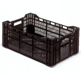 Krat 60x40x22/25 open zwart