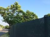 Zichtschermgaas 180 groen met knoopsgaten 50  x 1,80 meter