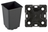Pot IPP 11 x 11 x 21,5 H zwart (pallet=3600 stuks)