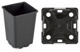 Pot IPP 25 x 25 x 26 H zwart (pallet= 1120 stuks)