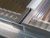 Thermoclear U-Profiel aluminium 16 mm brut (lengte= 2.10mtr)