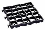 Grasplaat Ecoraster zwart 33 x 33 x 3 cm EL30