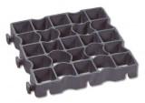 Grasplaat Ecoraster zwart 33 x 33 x 5 cm E50