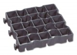 Grasplaat Ecoraster zwart 33 x 33 x 5 cm S50