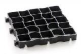 Grasplaat Ecoraster zwart 33 x 33 x 4 cm EH40