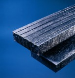 Steigerplank met profiel zwart 20.0 x 4.7 x 325 cm