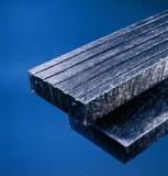 Steigerplank met profiel zwart 15.0 x 3.0 x 300 cm
