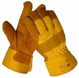 Handschoen splitleder bruin