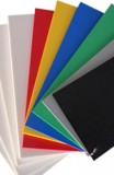 Plaat PVC-CAW grijs(7011)  3 mm